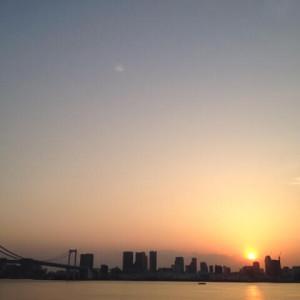 豊洲 夕焼け