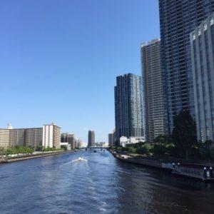 豊洲運河 豊洲橋からの景色